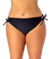 california waves trendy plus size side-tie hipster bikini bottoms women's swimsuit