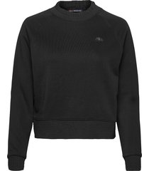 crewneck sweater with special neck detail sweat-shirt trui zwart scotch & soda