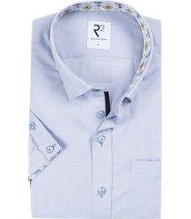 r2 shirt korte mouwen blauw gestreept