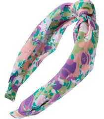 bp. multifloral topknot headband, size one size - blue