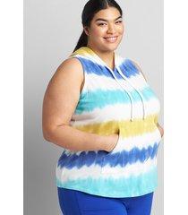 lane bryant women's livi sleeveless hooded sweatshirt 38/40 florida tie dye