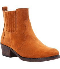 propet women's reese western style ankle booties women's shoes