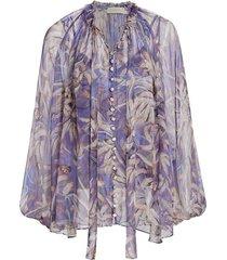 wild botanica drawn swing blouse