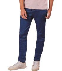 pantalon pmp tipo joger con cortes en rodilla azul