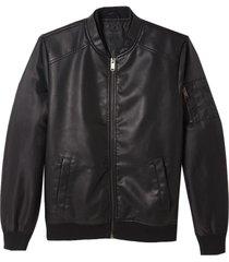 jaqueta john john josh couro fake preto masculina (preto, gg)
