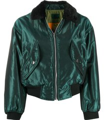 jean paul gaultier pre-owned 1988 iridescent relaxed bomber jacket -