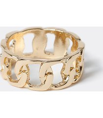 river island mens gold colour chain link ring