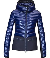 hogan down coat blue