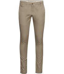 twisted twill chinos casual broek vrijetijdsbroek beige knowledge cotton apparel