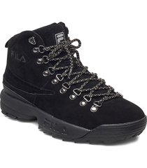 disruptor hiking boot wmn shoes boots ankle boots ankle boot - flat svart fila