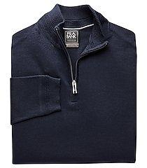 travel tech merino wool blend quarter zip mock neck men's sweater