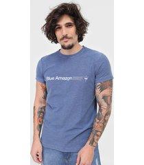 camiseta osklen blue amazon azul - azul - masculino - algodã£o - dafiti