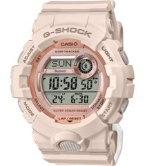 g-shock women's digital power trainer blush resin strap watch 45.2mm