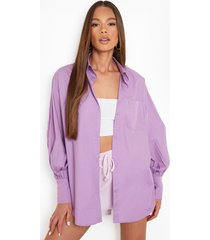 oversized boyfriend overhemd, purple