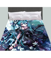 anime cosplay hatsune miku vocaloid bedspread coverlet duvet cover quilt cover