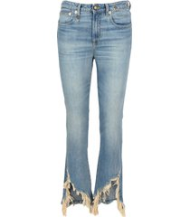 r13 r13 ripped cropped jeans