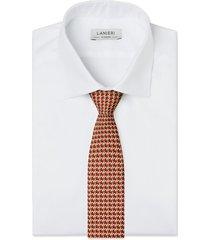 cravatta su misura, lanieri, incastro ruggine, quattro stagioni