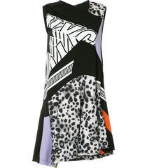 koché asymmetric patchwork dress - multicolour