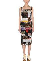 dolce & gabbana dress with patchwork