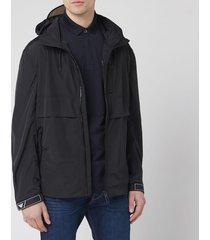 emporio armani men's light popover jacket - black - xl