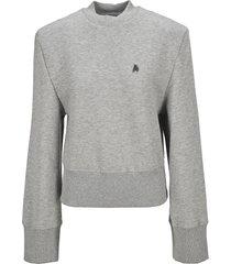 the attico attico structured shoulder sweatshirt