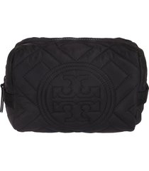 tory burch fleming quilted nylon clutch