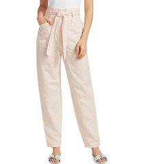 a.l.c. women's coburn paperbag waist pants - beech - size 12