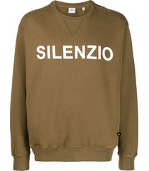 aspesi silenzio sweatshirt - green