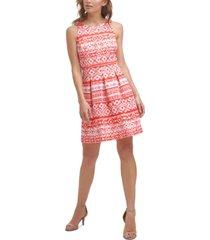 jessica howard petite printed a-line dress
