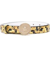 versace kids medusa head logo belt - yellow
