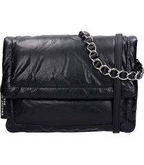 marc jacobs shoulder bag in black synthetic fibers