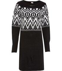 abito in maglia con motivi norvegesi (nero) - bodyflirt boutique