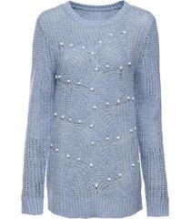 maglione traforato con perle (blu) - bodyflirt