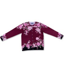 karen scott begonia brigade button cardigan, created for macy's