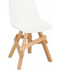 krzesło madera boho białe