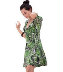 korte jurk admas gekruiste strandjurk hojas y rayas
