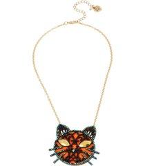 betsey johnson cat pendant necklace