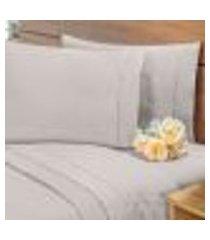 lençol avulso c/ elástico percal 400 fios cama casal padrão fendi
