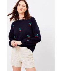loft cherry bobble sweater