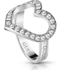 anillo guess shine on me/ubr28000-54 - plateado