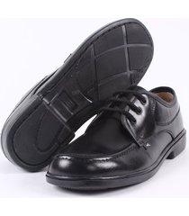 zapato colegial street line -negro suela tacon