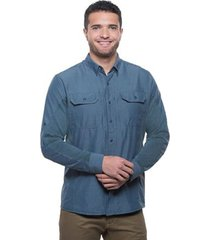 camisa hombre airspeed ls pirate blue kuhl