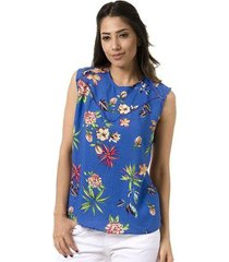 blusa bloom regata estampada