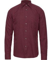 flannel button-under collar shirt overhemd casual rood eton