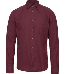 flannel button-under collar shirt overhemd casual rood eton