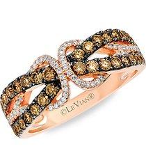 chocolatier® 14k strawberry gold®, chocolate diamond® & vanilla diamond® ring