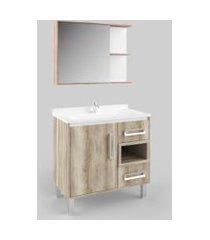 gabinete para banheiro com lavatório barrique lilies móveis
