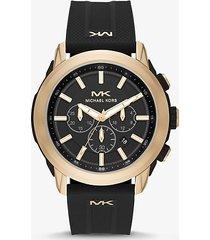 mk orologio kyle oversize tonalità oro con cinturino in silicone - oro (oro) - michael kors