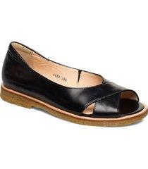 sandals - flat - open toe - clo shoes summer shoes flat sandals svart angulus