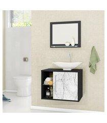 gabinete para banheiro baden móveis bechara com cuba e espelheira
